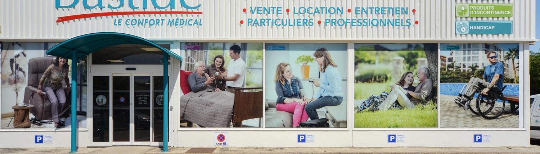 devanture magasin confort et santé mobilité incontinence orthopédie Bastide Bourg-en-Bresse